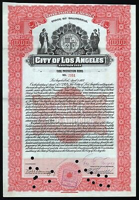 1923 California: City of Los Angeles - Fire Protection Bond, Election 1922