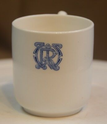 An Antique Royal Navy Cup, Crown Staffordshire, From H.m.s. Warrior