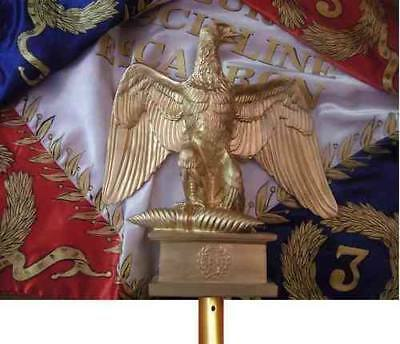 Napoleonic eagle real size resin with metal pole tipp