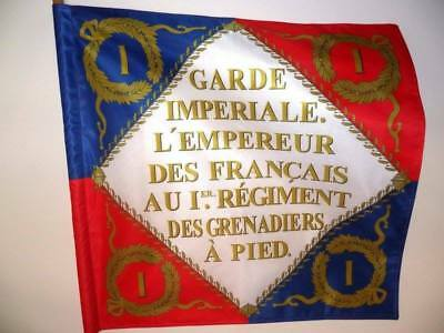 Napoleonic flag standard French 1st foot guard grenadier regiment 2 sides made
