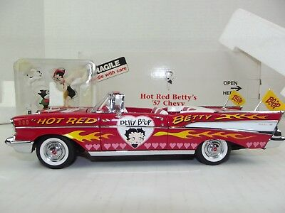 Vtg Hot Rod Betty Boop 57 Chevy Bel Air Diecast Car 1999 Danbury Mint Figurine