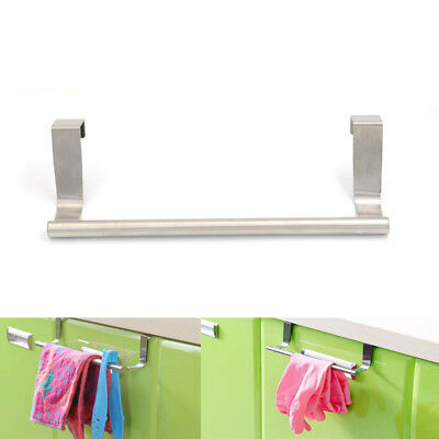 Wall Mounted Towel Rack Bathroom Holder Storage Shelf Stainless-Steel HV