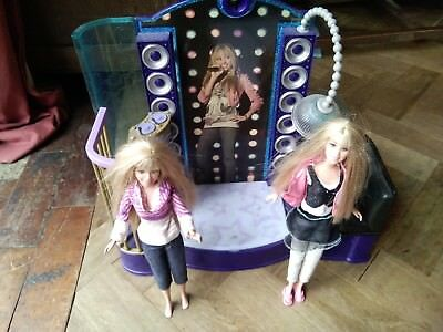 hannah montana disco stage playset and dolls light and sound v rare