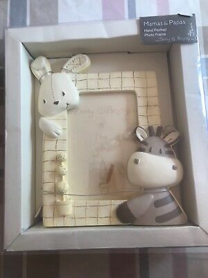 mamas and papas BRAND NEW IN BOX 'zeddy & parsnip' hand painted photo frame