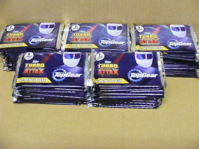 75  sealed packets of. TOP GEAR TURBO ATTAX  TRADING CARDS ( LAST 1 AVAILABLE )