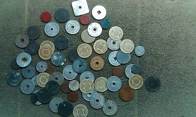 Lot of 50+ Tax Tokens Multiple States, OPA Blue Red Ration Tokens