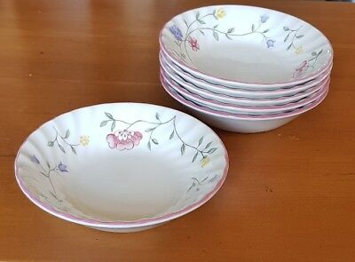 """Six (6) Johnson Brothers Summer Chintz 5"""" Berry Dishes VGC"""