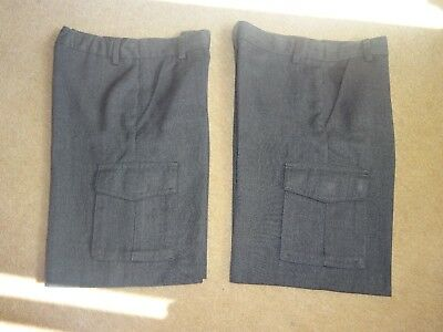 2 pairs of Boys' grey school shorts,age 8 cargo style, great condition; bargain!