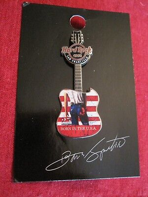 Hard Rock Cafe Born in the USA Bruce Springsteen Guitar Pin Carded Why Hunger
