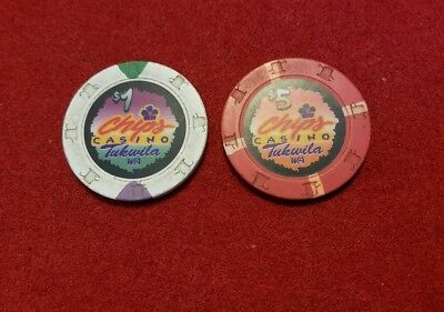 Chips Casino ~ Tukwila, WA ~ set of 2