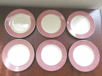6 x Ridgeway Conway Pink Side Plates. 17.5cm / 7ins