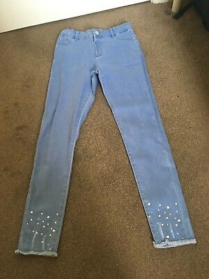Girls River Island Molly Jeans Age 12 Years Fab Pearl Hem Detail