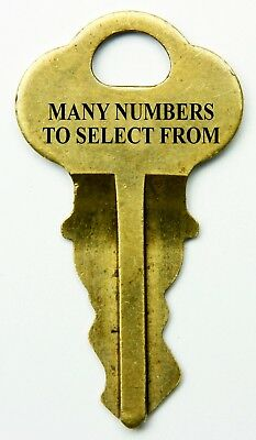 Chicago Lock Replacement Keys, Select One Numbered Key, Many To Choose, Vending
