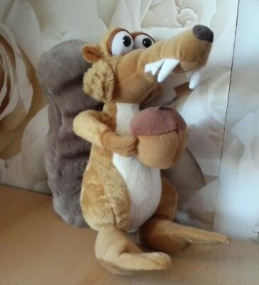 Ice age 4 Scrat squirrel soft toy holding nut cut collectable