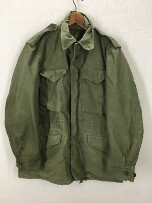 Vintage M-51 US Military Field Jacket Olive Green Sz Small