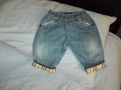 Burberry Baby Denim Jeans 100%authentic Age 6Months
