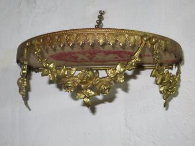 Stunning French Bed Canopy/Corona/Ciel de Lit..1880/1900s Rose Garland Swags.