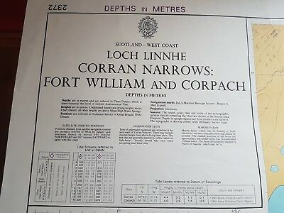Marine chart/map Corran narrows Fortwilliam Scotland 1991