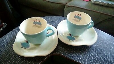 Beswick Ballet Cups And Saucers