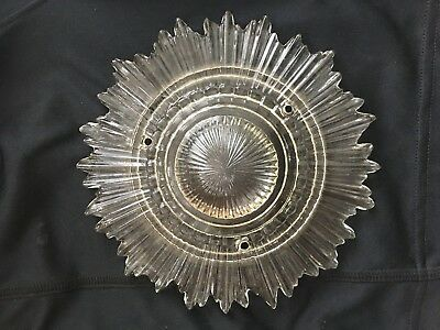 """7"""" Antique Art Deco Star Burst Clear Glass Ceiling Light HANGING Lamp Shade"""