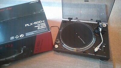 Pioneer PLX-500-K DJ Turntable Boxed Hardly Used One Year Old X1