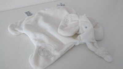 M&S Marks And Spencer Flat Elephant Baby Comforter Soother Blankie Soft Hug Toy