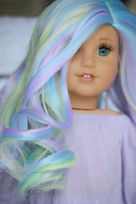 "11"" Custom Doll Wig for 18"" American Girl Dolls Gotz My Life OG Journey Girls"