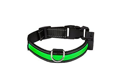 EYENIMAL Collier Lumineux Rechargeable USB pour Chien Vert 40 - 45 cm Taille S