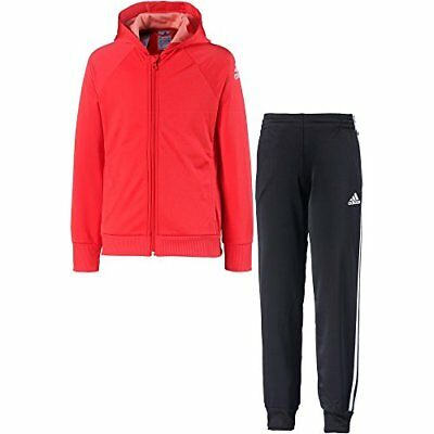 Adidas Knitted Survêtement fille 5-6 ans Top:Bright Red/White Bottom:Black/White
