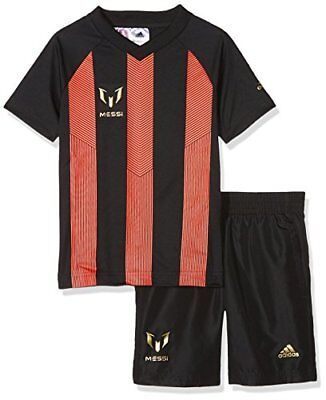 adidas Messi Set Survêtement Garçon 104 cm Top:Black/Solar Red/Gold Metallic ...