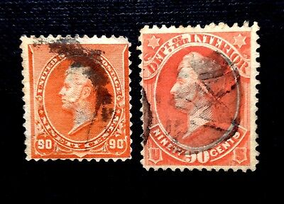 2 H.Perry's. SCOTT #229 & SCOTT #O24.Nice color.Margins clear vignettes.SCV$200.
