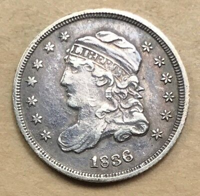 1836 Capped Bust Half Dime  XF/AU