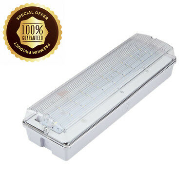 Biard 4W LED Rectangular IP65 Emergency Bulkhead Light -...