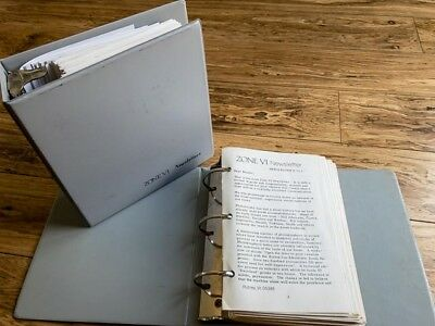Zone VI Newsletters by Fred Picker, Issues 1 to 83 (1973 to 1995)