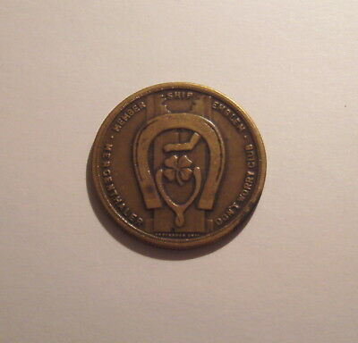 "Vintage ""Use the Linotype"" Good Luck Token"