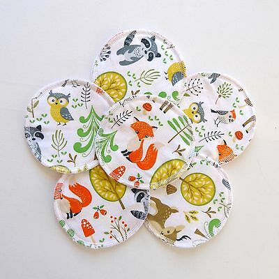6x Reusable and washable Cloth Nursing Breast Pads insert for breastfeeding mums