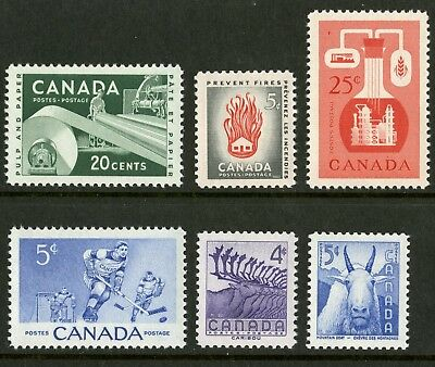 Canada   1956   Unitrade # 359-364   Complete Mint Never Hinged Year Set