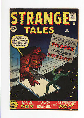 Strange Tales #94 - Scarce Early Silver Age Pre-Hero! 1962 - Space Monster!