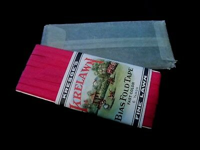 Victorian Sewing Bias Fold Tape with Packaging and Trade Card Insert Orange NJ