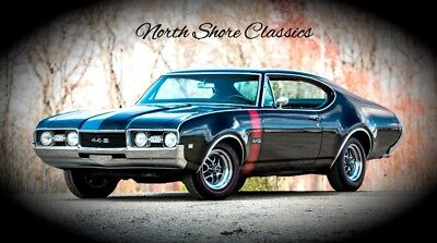442 -CLASSIC MUSCLE CAR - SEE VIDEO Black Oldsmobile 442 with 5,000 Miles available now!