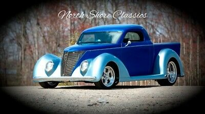Other Pickups - STREET ROD - CUSTOM AIR-RIDE AND INTERIOR 1937 Ford Pickup, Blue/Silver with 111,111 Miles available now!
