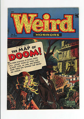 Weird Horrors #9 - 1953 Unrestored - Great Cover - Very Scarce Horror!