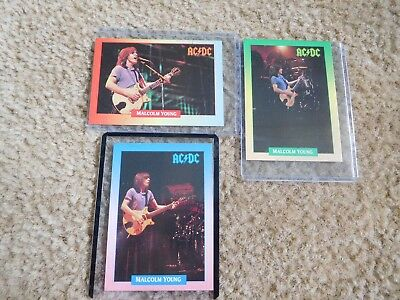 Set   of  3 Malcolm  young from ac/dc  mint cards