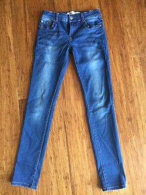 Just Jeans Sz 10 Girls Skinny Mid Rise Jeans Superb Condition