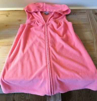 Toddler girl size 5t Old Navy pink terry sleeveless swim cover up