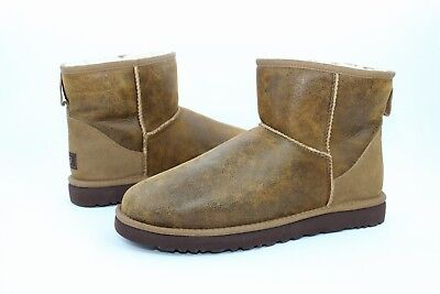 8b1676c054f UGG FOR MEN Classic Mini Bomber Jacket Brown Suede Wool Boots Men Size 8 US