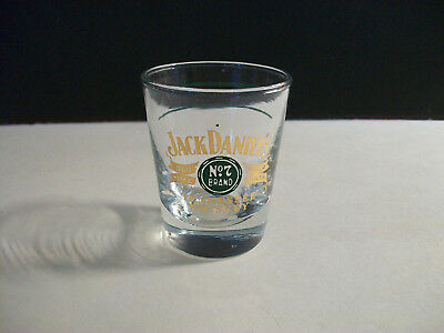 Jack Daniels Green Gold Shot Glass With Double Green Measure Lines Libbey Glass