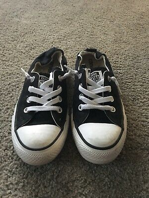 Converse All Star Slip On Black White Sneakers Shoes Women's Size 7 Low Top