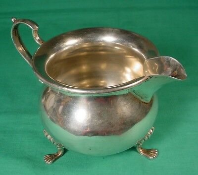SCRAP STERLING SILVER FOOTED CREAMER #157 HUNT HALLMARK STERLING Co. 135 gr.