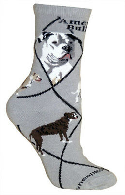 American Bulldog Dog Breed Gray Lightweight Stretch Cotton Adult Socks